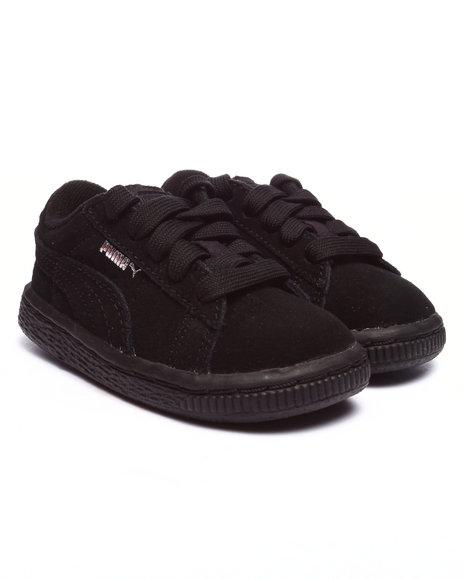 Puma - Boys Black Suede Kids Sneakers (5-10)
