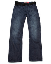 Sizes 8-20 - Big Kids - BELTED MERCERIZED FLAP POCKET JEANS (8-20)