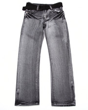 Sizes 8-20 - Big Kids - BELTED LIGHTENING WASH JEANS (8-20)
