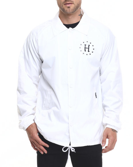 Huf - Men White Huf Usa Coaches Jacket