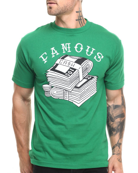 Ur-ID 224241 Famous Stars & Straps - Men Green Cash Rules Tee