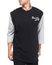 Men - Brooklyn Dodgers In The Clutch Henley Tee