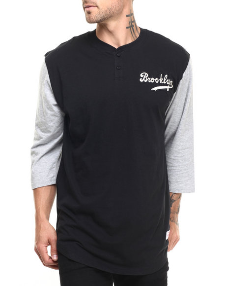 Ur-ID 224243 Mitchell & Ness - Men Black Brooklyn Dodgers In The Clutch Henley Tee