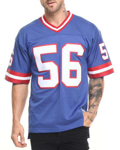 Ur-ID 224252 Mitchell & Ness - Men Blue New York Giants Lawrence Taylor Replica Jersey