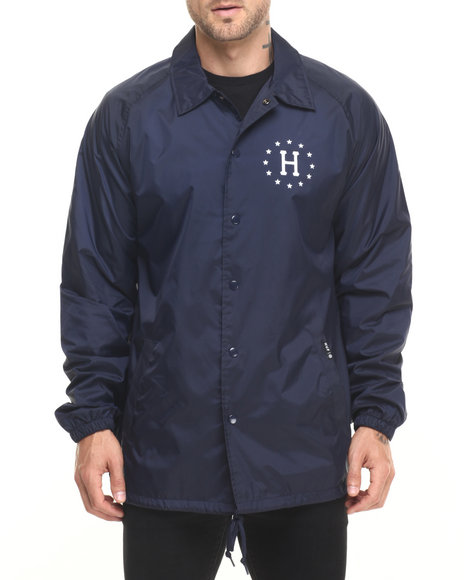 Ur-ID 224256 HUF - Men Navy Huf Usa Coaches Jacket