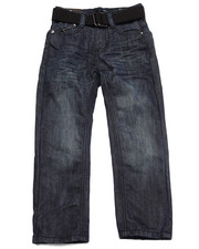 Bottoms - BELTED MERCERIZED JEANS (4-7)
