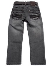 Boys - BELTED MERCERIZED JEANS (4-7)