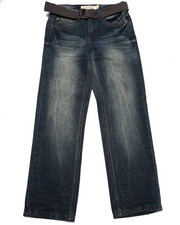 Sizes 8-20 - Big Kids - BELTED PREMIUM FLAP POCKET JEANS (8-20)