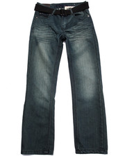 Sizes 8-20 - Big Kids - BELTED MERCERIZED JEANS (8-20)