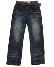 Boys - BELTED PREMIUM FLAP POCKET JEANS (8-20)