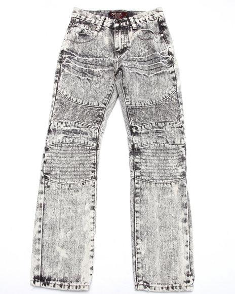 Arcade Styles - Boys Grey Acid Moto Jeans (8-20)