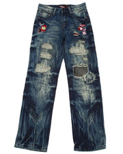 Sizes 8-20 - Big Kids - PATCHWORK JEANS (8-20)