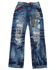 Boys - BUFFALO PLAID PATCHWORK JEANS (8-20)