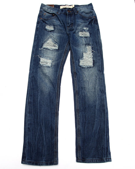 Arcade Styles - Boys Medium Wash Distressed Jeans (8-20)