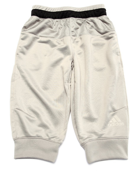 Adidas - Boys Grey Adidas Basketball Lit Up 3/4 Pant (8-20)