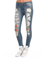 Fall Shop - Women - Janie Skinny Jean w/Destruction Detail