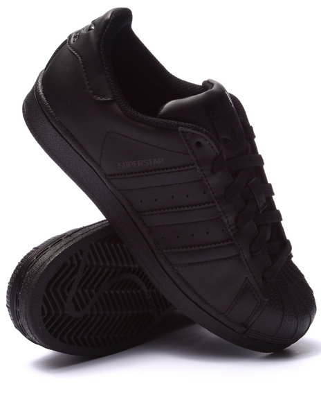 Adidas Boys Superstar J Sneakers (3.57) Black 3.5 Youth