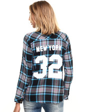 Women - Varsity Destination Button Up Flannel