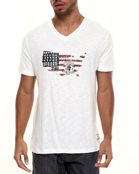Buyers Picks - Men Off White Fifty Star Tee