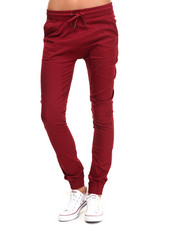 Women - Drop Crotch Twill Jogger