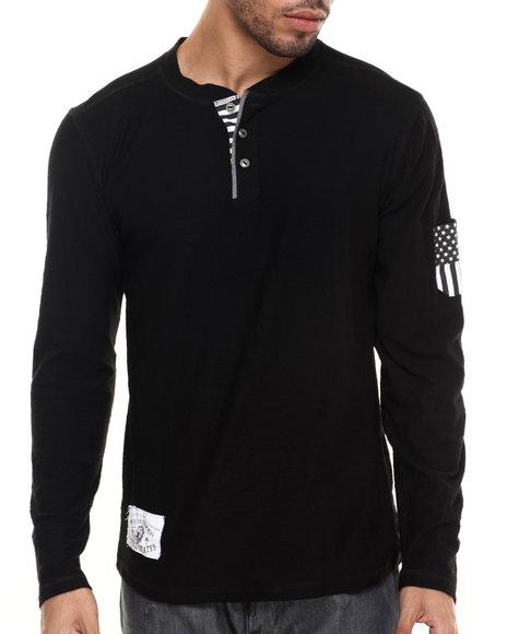 Ur-ID 224276 Buyers Picks - Men Black Flag Henley