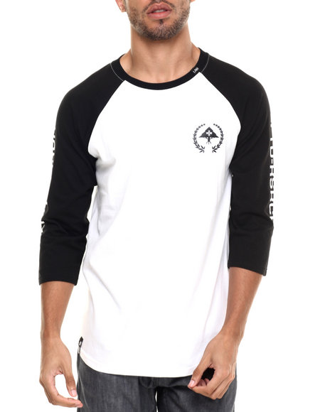 Lrg - Men Black Rc Jersey Baseball T-Shirt