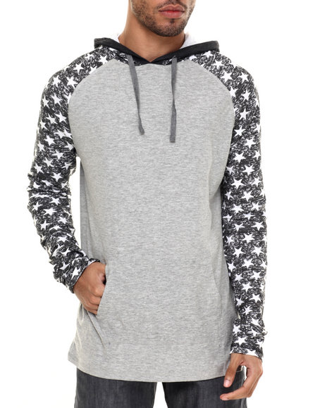 Ur-ID 224325 Buyers Picks - Men Grey Star Hoodie