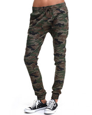 Bottoms - Drop Crotch Camo Twill Jogger