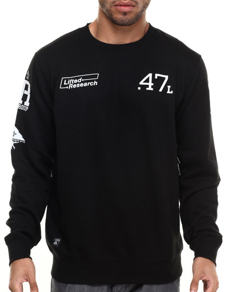 Ur-ID 224348 LRG - Men Black The Message Sweatshirt