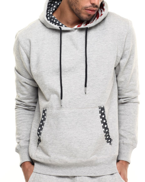 Ur-ID 224349 Buyers Picks - Men Grey Mayflower Hoodie