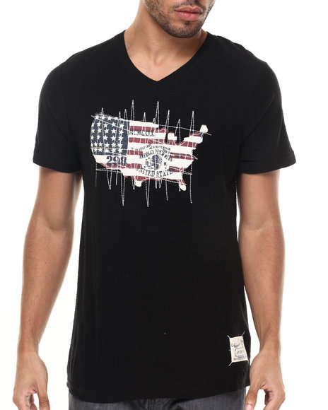Ur-ID 224350 Buyers Picks - Men Black Fifty Star Tee