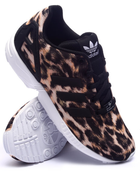 Adidas - Girls Animal Print Zx Flux Cheetah K Sneakers (3.5-7) - $70.00