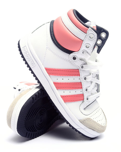Adidas Girls Top Ten Hi C Sneakers (113) Coral 11 Youth