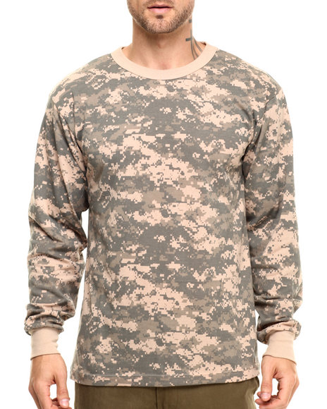 Rothco - Men Acu Digital Camo Rothco Long Sleeve Digital Camo T-Shirts