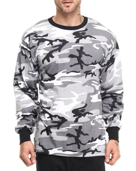 Ur-ID 224159 Rothco - Men City Camo Rothco Long Sleeve Camo T-Shirt