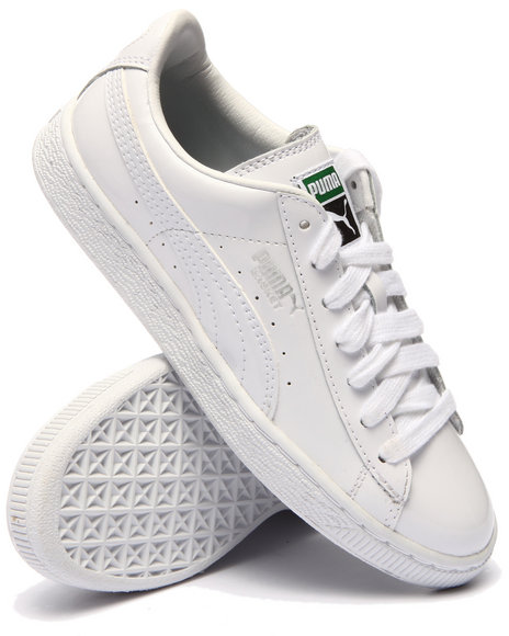Puma - Women White Basket Matte & Shine Sneakers