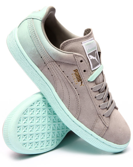 Puma - Women Grey Suede Classic Blur Sneakers