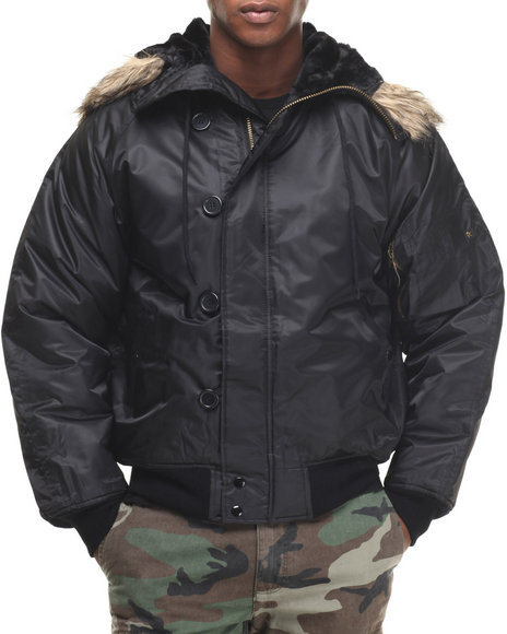 Ur-ID 224409 Rothco - Men Black Rothco N-2B Flight Jacket by Rothco