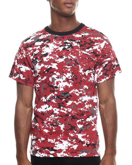 Ur-ID 224411 Rothco - Men Red Digital Camo Rothco Digital Camo T-Shirt