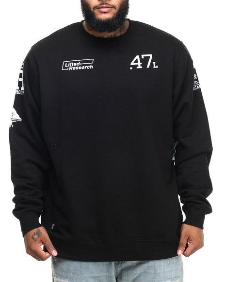 Ur-ID 224384 LRG - Men Black The Message Sweatshirt (B&T)