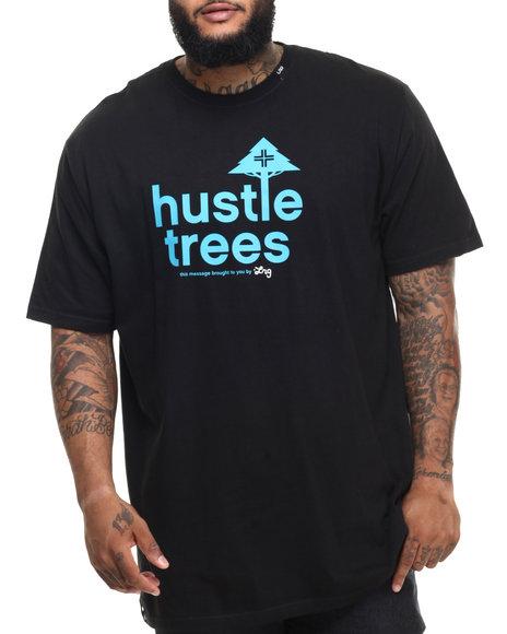 Lrg - Men Black Rc Hustle Trees T-Shirt (B&T)