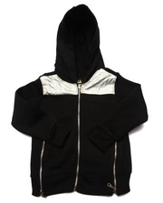 Arcade Styles - METALLIC PANEL HOODY (4-7)
