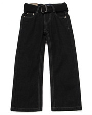 Arcade Styles - BELTED HEAVY STITCH FLAP POCKET JEANS (4-7)