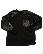Arcade Styles - QUILTED PANEL SWEATSHIRT (4-7)
