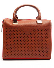 Women - Pink Haley Perforated Satchel