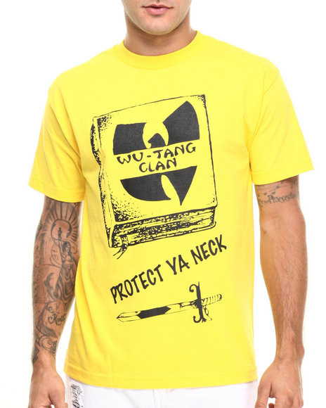 Ur-ID 224259 Wu-Tang Limited - Men Yellow Protect Ya Neck Tee