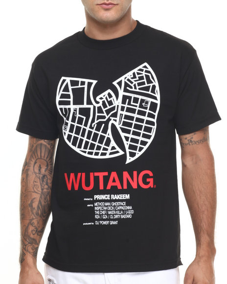 Ur-ID 224260 Wu-Tang Limited - Men Black Mean Streets Tee