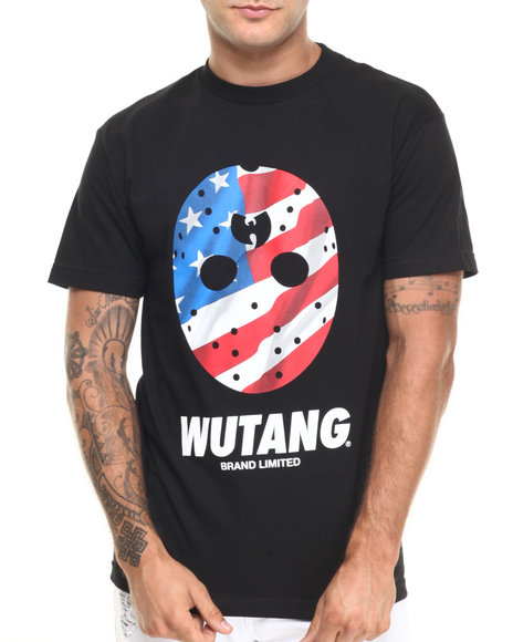 Ur-ID 224262 Wu-Tang Limited - Men Black Flag Mask Tee