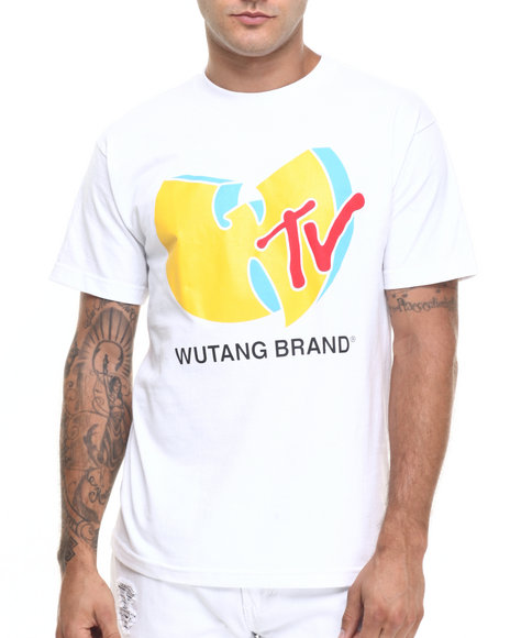 Ur-ID 224263 Wu-Tang Limited - Men White Wu Tv Tee