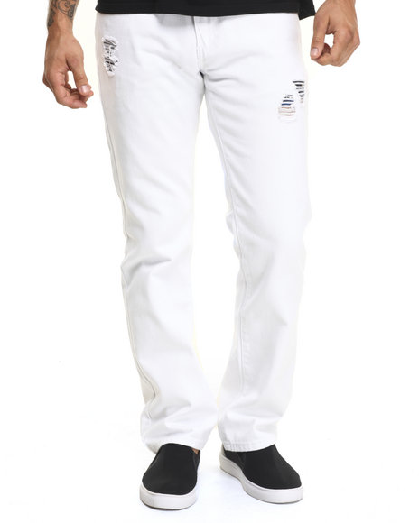 Ur-ID 224353 Winchester - Men White Connecticut Skinny Twill Pants
